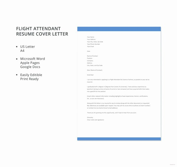 Flight attendant Cover Letter Beautiful 8 Flight attendant Cover Letter Templates Sample Example