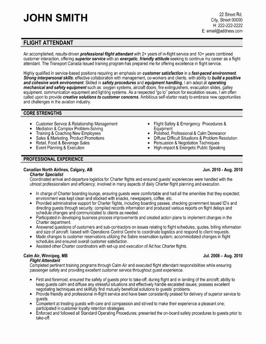Flight attendant Resume No Experience Lovely Flight attendant Resume Sample & Template