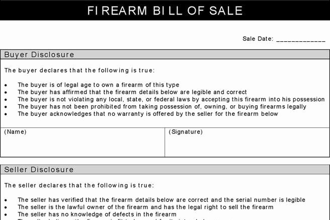 Florida Gun Bill Of Sale Beautiful 248 Bill Of Sale form Free Download