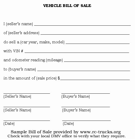 Florida Gun Bill Of Sale New Free Printable Vehicle Bill Of Sale Template form Generic