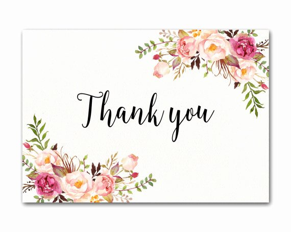 Florist Business Cards Design Best Of Items Similar to Ivory Thank You Card Floral Thank You