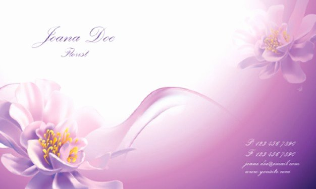 Florist Business Cards Design Fresh Beautiful Floral Business Card Template Vector