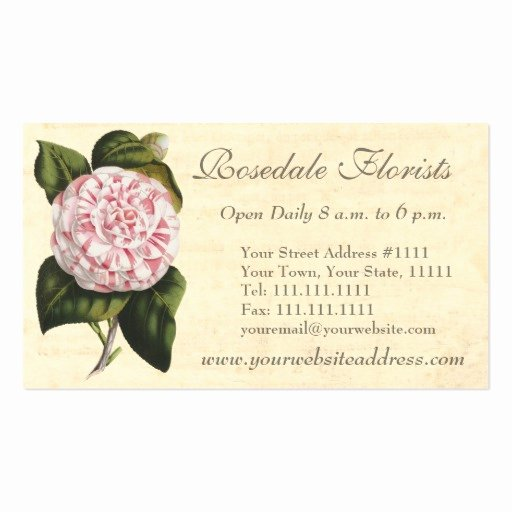 Florist Business Cards Design Inspirational Create Your Own Florist Business Cards