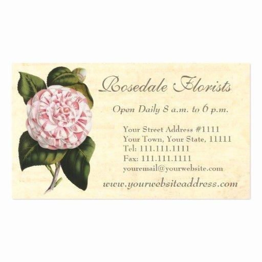 Florist Business Cards Design Inspirational Create Your Own Florist Business Cards