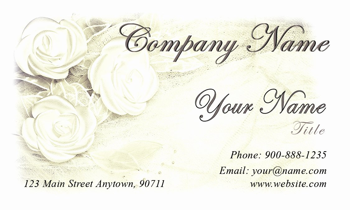Florist Business Cards Design Lovely Wedding Coordinator Business Cards