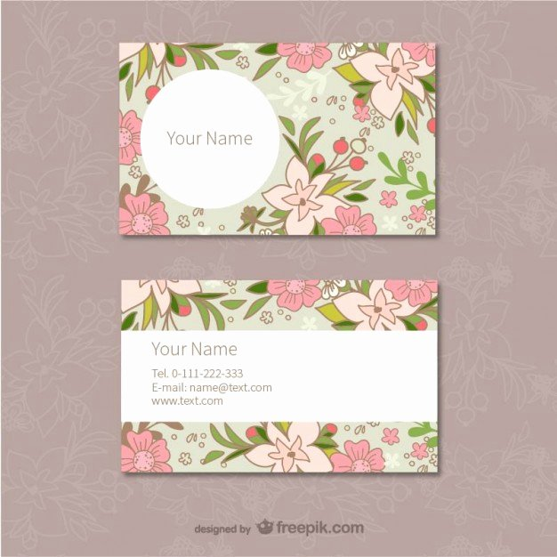 Florist Business Cards Design Luxury Floral Business Cards Template Vector