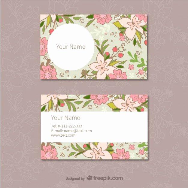 Florist Business Cards Design Luxury Floral Business Cards Template Vector