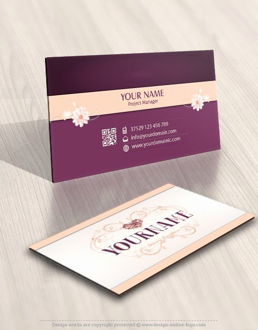 Flower Shop Business Cards Best Of Exclusive Design Flower Frame Logo Free Business Card