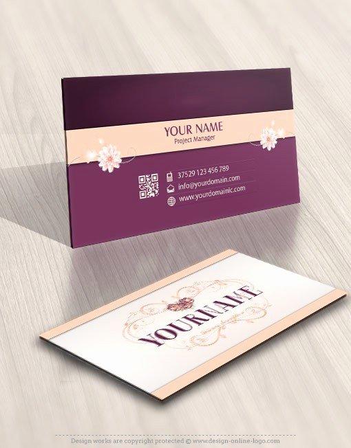 Flower Shop Business Cards Best Of Exclusive Design Flower Frame Logo Free Business Card