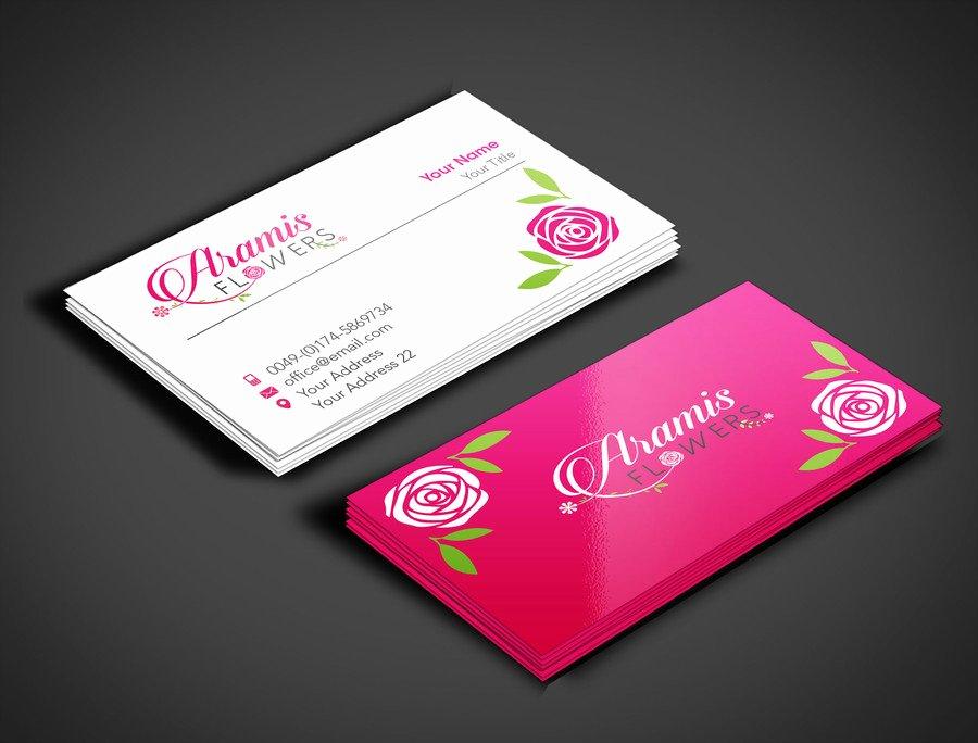 Flower Shop Business Cards Elegant Design some Business Cards for Flower Shop