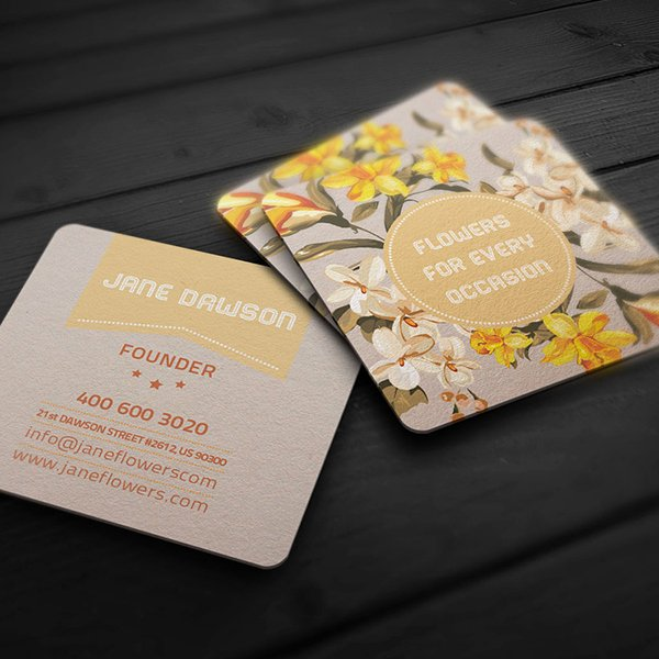 Flower Shop Business Cards Elegant Flower Shop Business Card On Behance