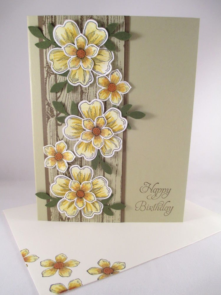 "Flower Shop Business Cards Elegant Stampin Up ""flower Shop"" Handmade Happy Birthday Card"