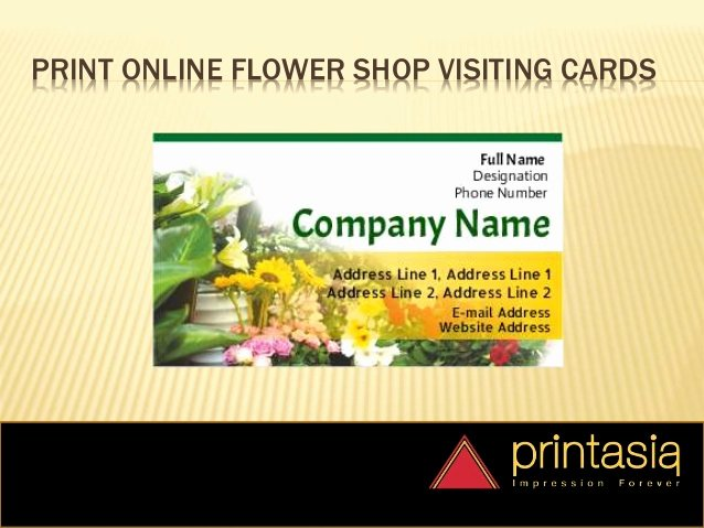 Flower Shop Business Cards Elegant Visiting Card Flower Shop