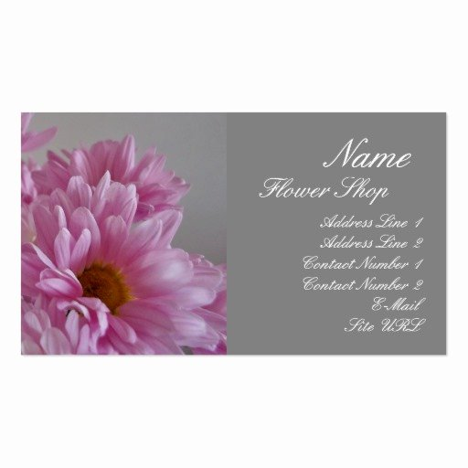 Flower Shop Business Cards Fresh Flower Shop Business Card