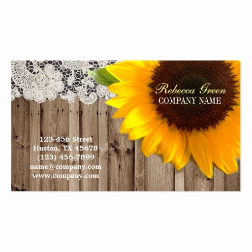 Flower Shop Business Cards Inspirational Rustic Yellow Sunflower Lace Country Flower Shop Business Card