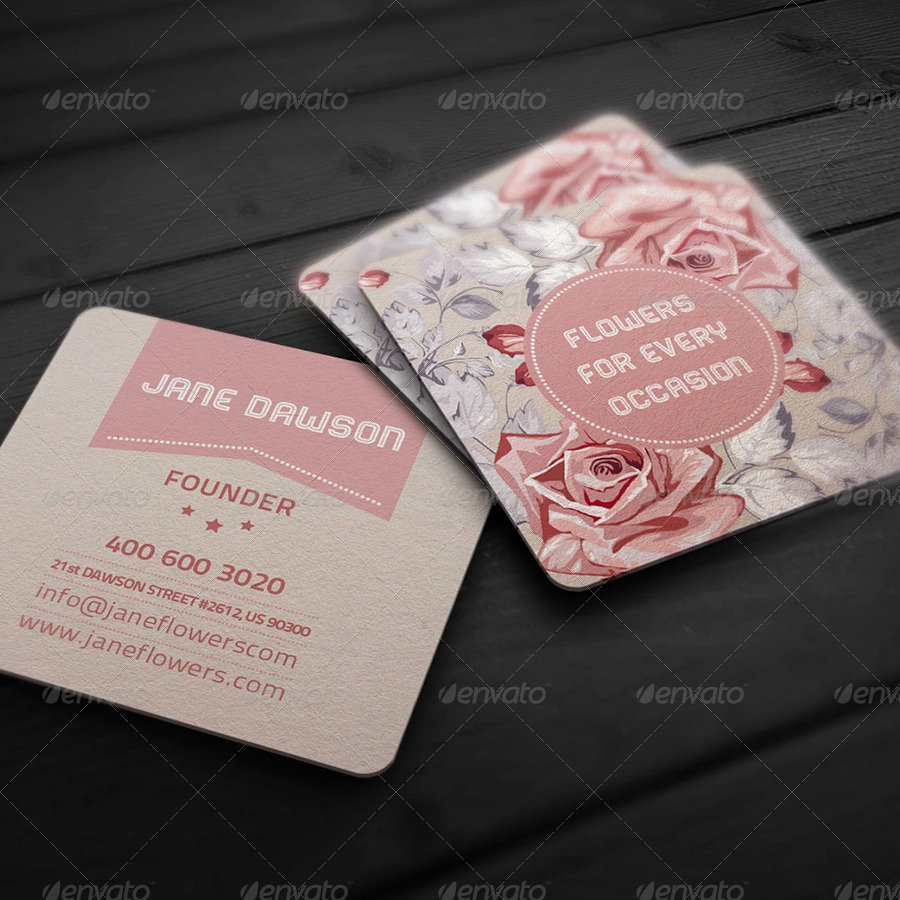 Flower Shop Business Cards New Flower Shop Business Card by Ellegfxdesign