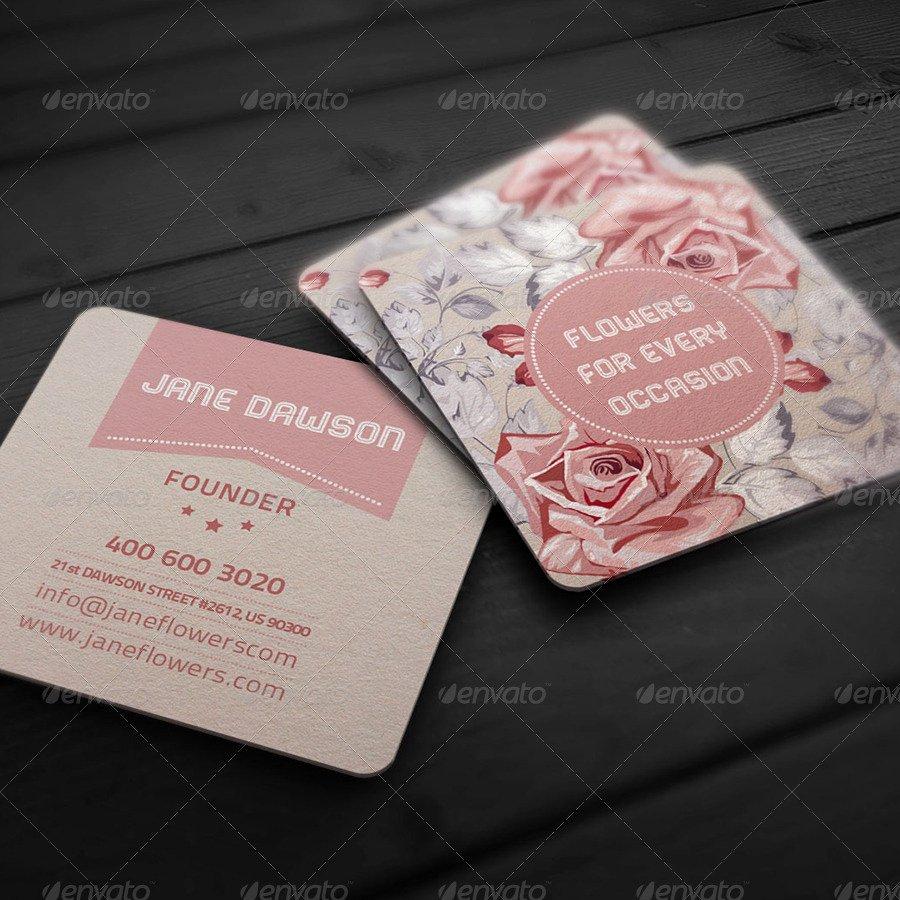 Flower Shop Business Cards New Flower Shop Business Card by Ellegfxdesign