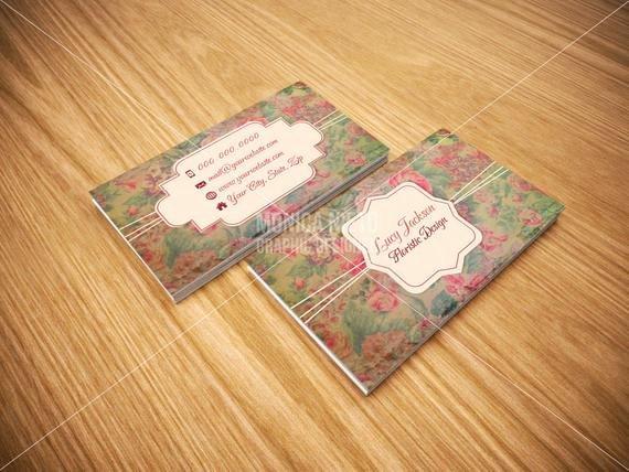 Flower Shop Business Cards Unique Custom Printable Antique Shop Florist Floristic Design Business Card Florist Shop by Monica