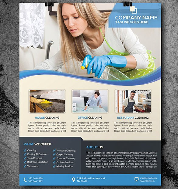 Flyer for Cleaning Service Awesome 20 House Cleaning Flyer Templates In Word Psd Eps Vector format