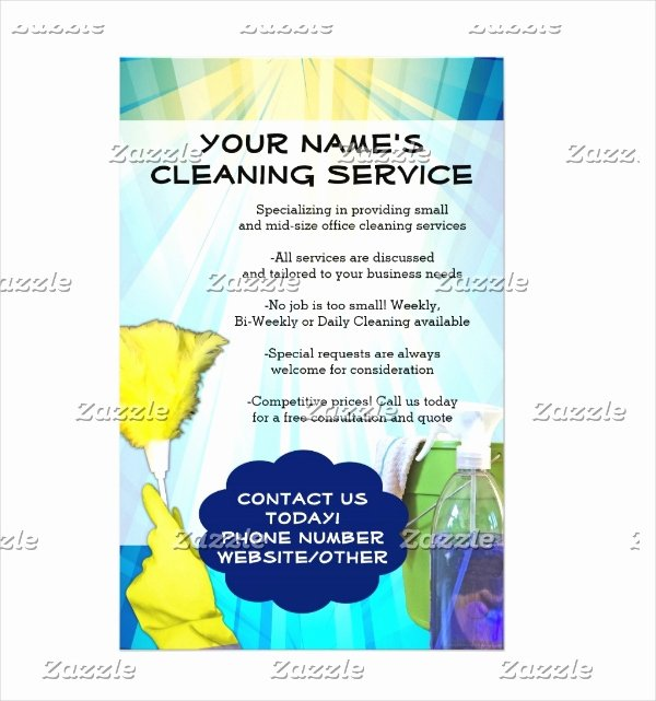 Flyer for Cleaning Service Awesome 32 Cleaning Service Flyer Designs & Templates Psd Ai