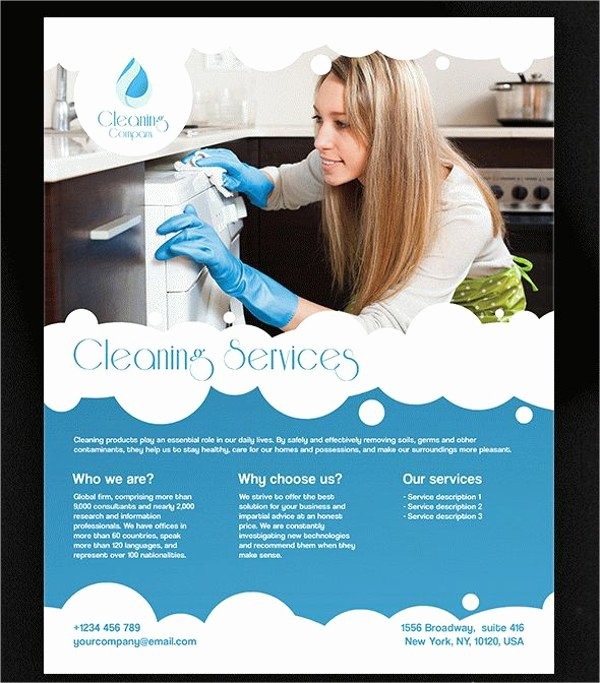 Flyer for Cleaning Service Beautiful 47 Printable Flyer Templates Psd Ai