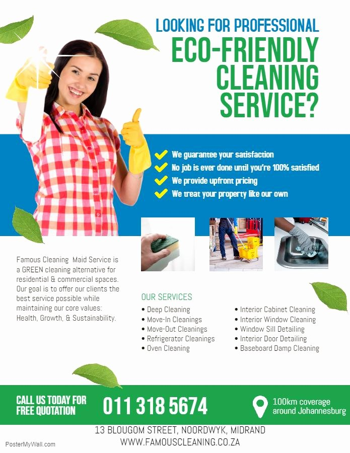 Flyer for Cleaning Service Beautiful Maid Services In & Around Midrand Dainfern