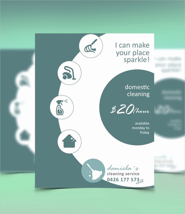 Flyer for Cleaning Service Elegant 32 Cleaning Service Flyer Designs & Templates Psd Ai