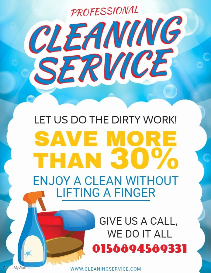 Flyer for Cleaning Service Elegant Professional House Cleaning Service Flyer Sample Cleaning Service Flyers and Ads