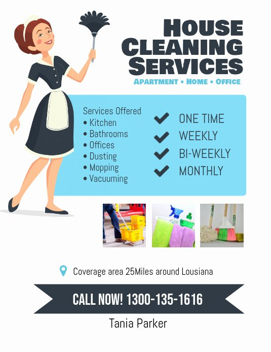 Flyer for Cleaning Service Fresh Copy Of House Cleaning Services Flyer Poster
