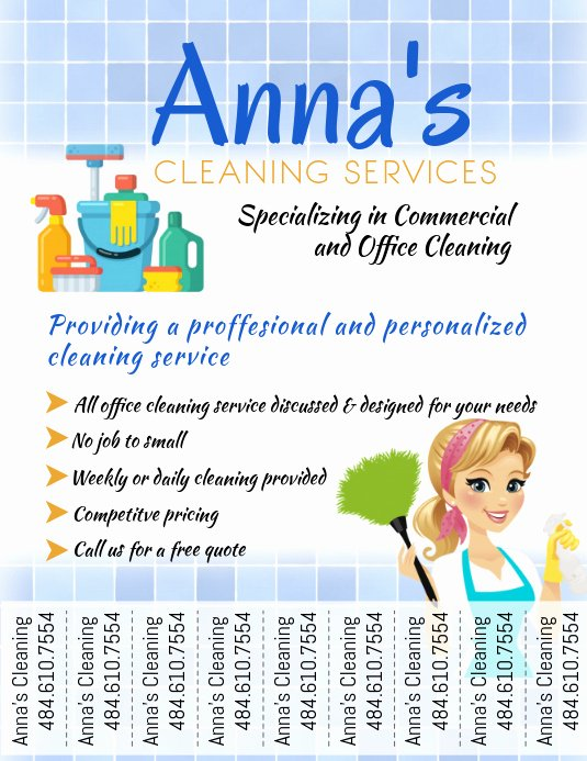 Flyer for Cleaning Service Inspirational Cleaning Service Template