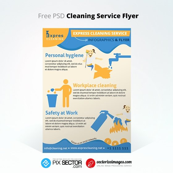 Flyer for Cleaning Service Inspirational Free Cleaning Service Flyer Infographics Pixsector