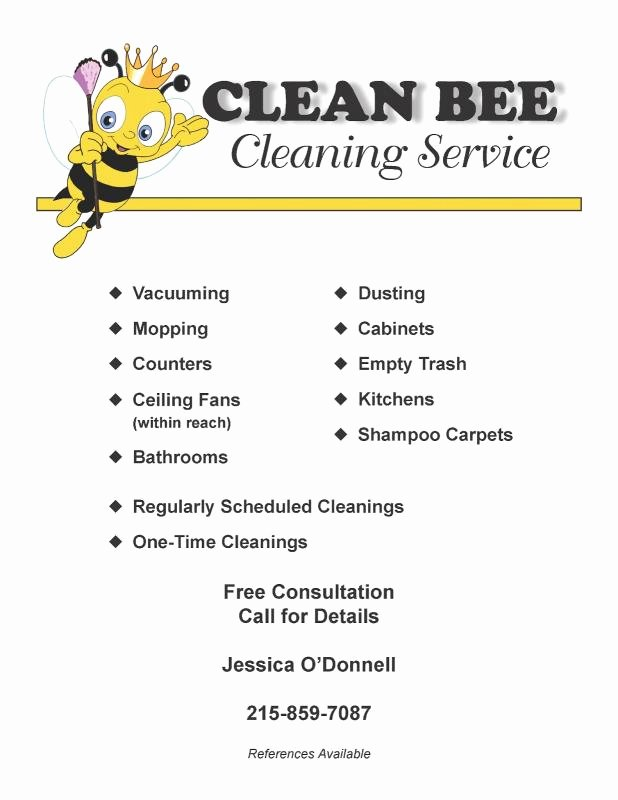 Flyer for Cleaning Service Luxury Cleaning Services Flyers