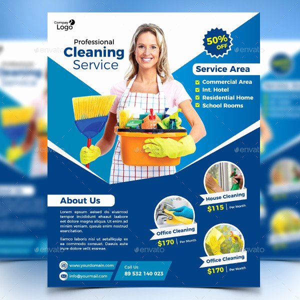 Flyer for Cleaning Service New 21 Cleaning Flyer Free & Premium Adobe Shop Illustrator formats