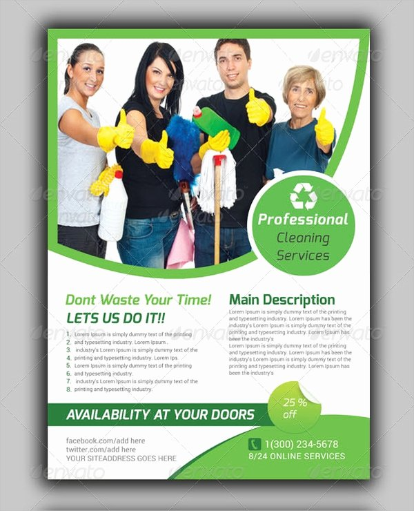 Flyer for Cleaning Service New 32 Cleaning Service Flyer Designs & Templates Psd Ai