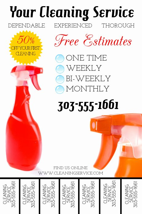 Flyer for Cleaning Service New Cleaning Service Template