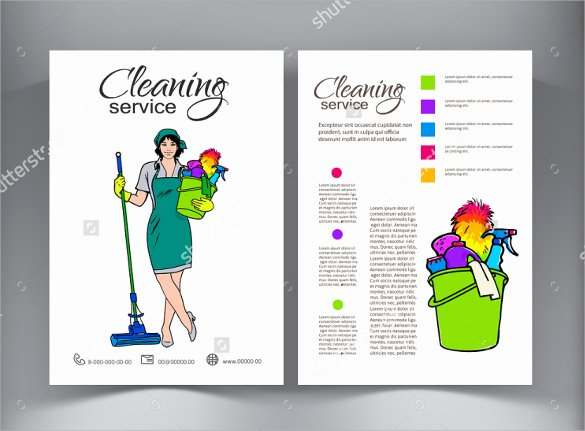 Flyer for Cleaning Service Unique Cleaning Services Flyers