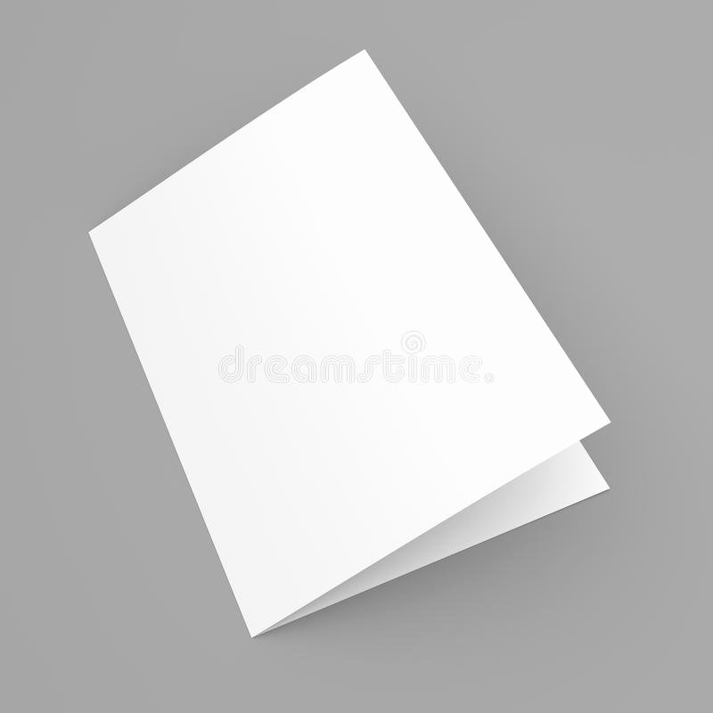 Foldable Business Card Template Luxury Blank Folded Flyer Booklet Postcard Business Card Brochure Stock Image Image Of Grey