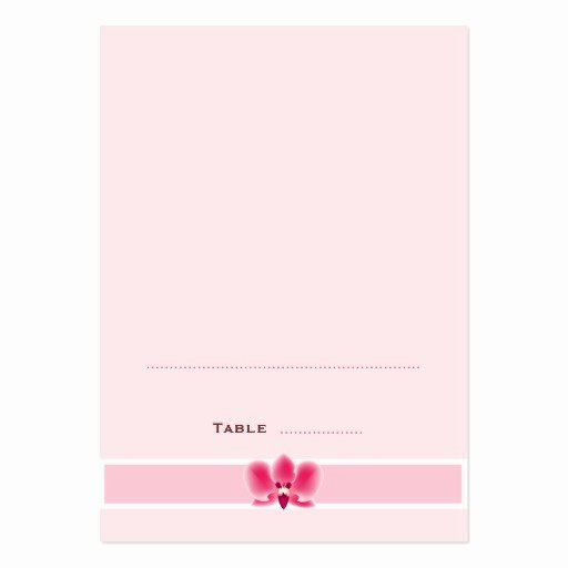 Foldable Business Card Template Luxury Pink orchid Folded Place Cards Business Card Templates