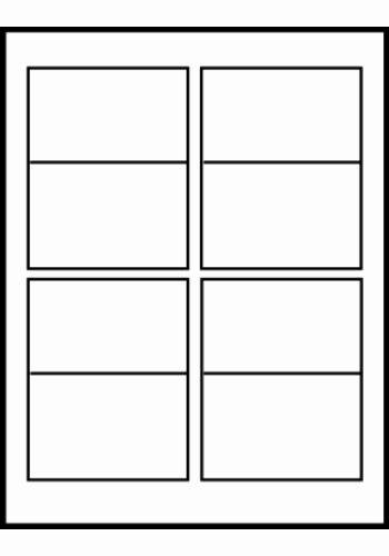 Folded Business Card Templates Elegant Avery Folded Business Cards Tall Word Template 4 Cards Per Sheet