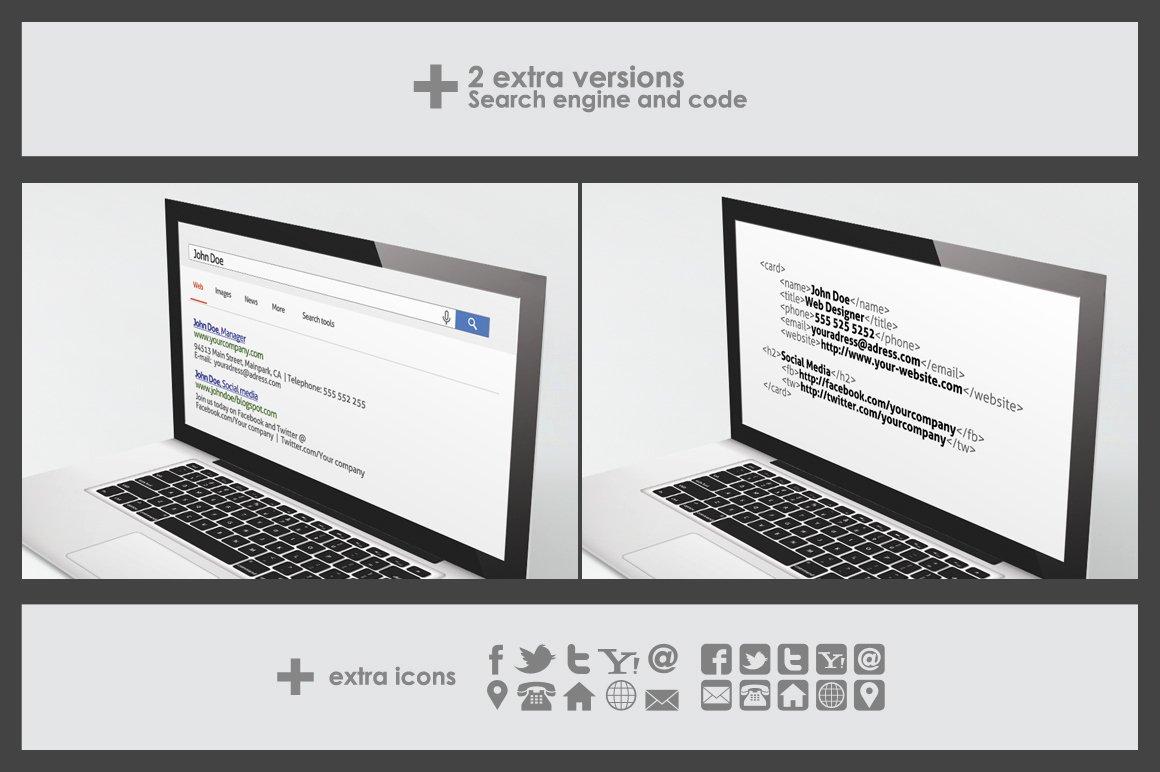 Folded Business Card Templates Elegant Laptop Folded Business Card Template Business Card Templates On Creative Market