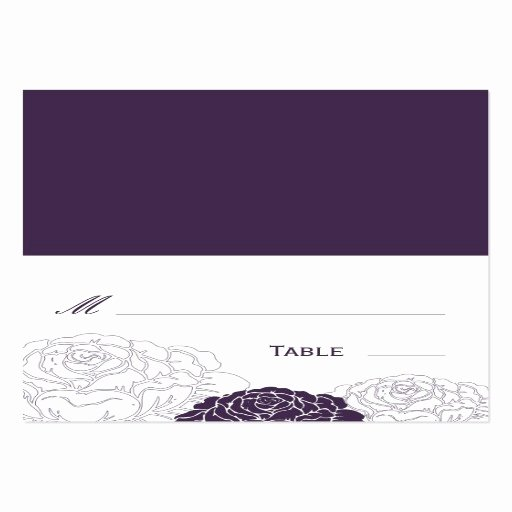 Folded Business Cards Template Elegant Rose Garden Folded Wedding Place Card Purple Business Cards Pack 100