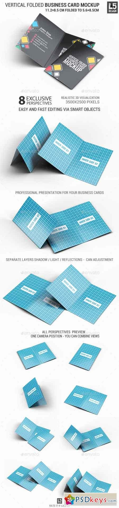 Folded Business Cards Template Fresh Vertical Folded Business Card Mock Up Free Download Shop Vector Stock Image Via