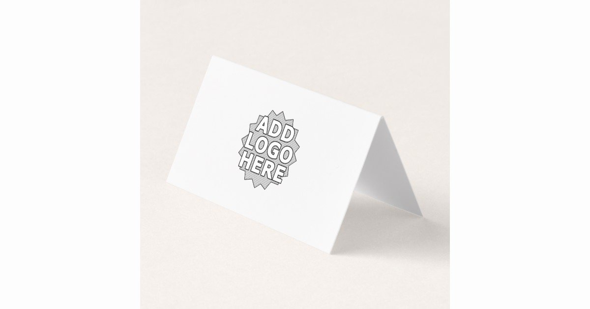 Folded Business Cards Templates Beautiful Add Your Logo Folded Blank Template Business Card