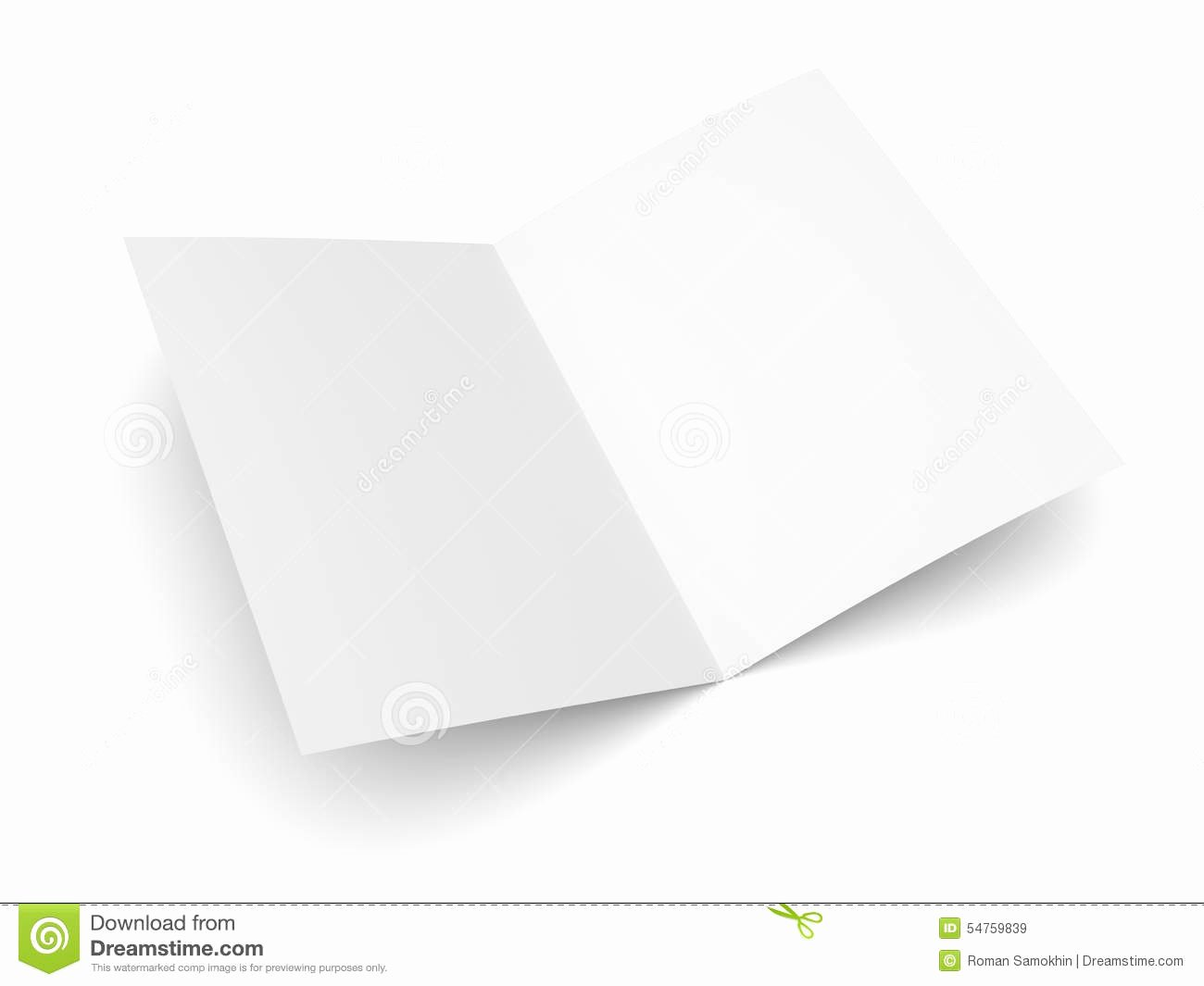 Folded Business Cards Templates Beautiful Blank Folded Flyer Booklet Postcard Business Card Brochure Stock Image