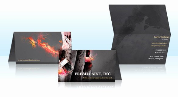 Folded Business Cards Templates Best Of Folded Business Cards