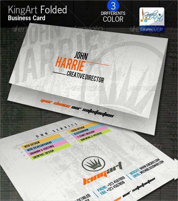 Folded Business Cards Templates Inspirational 22 Folded Business Cards Psd Ai Vector Eps