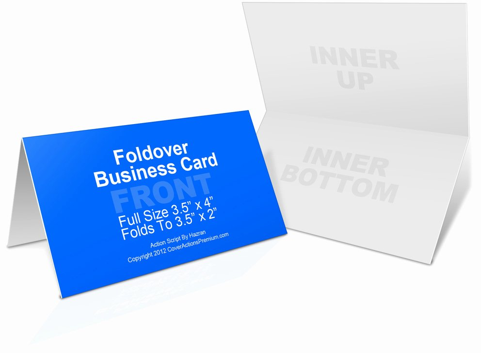 Folded Business Cards Templates Unique Foldover Business Card Mockup Cover Actions Premium