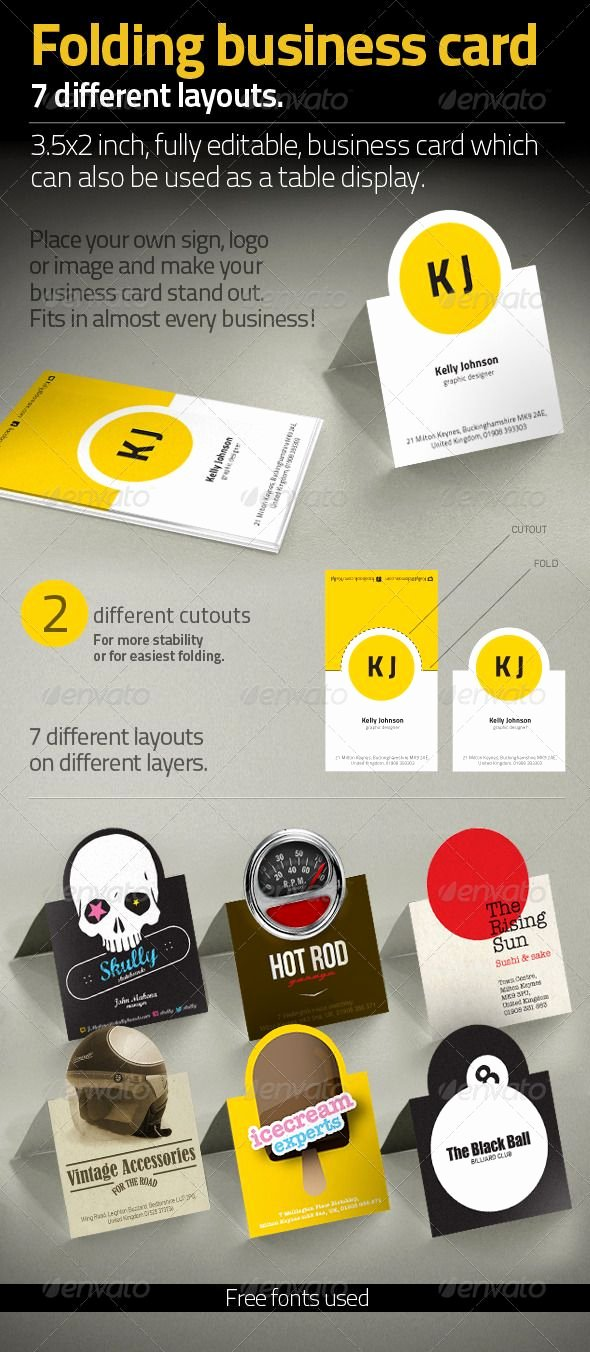 Folded Business Cards Templates Unique Pin by Bashooka Web & Graphic Design On Business Card Template & Design