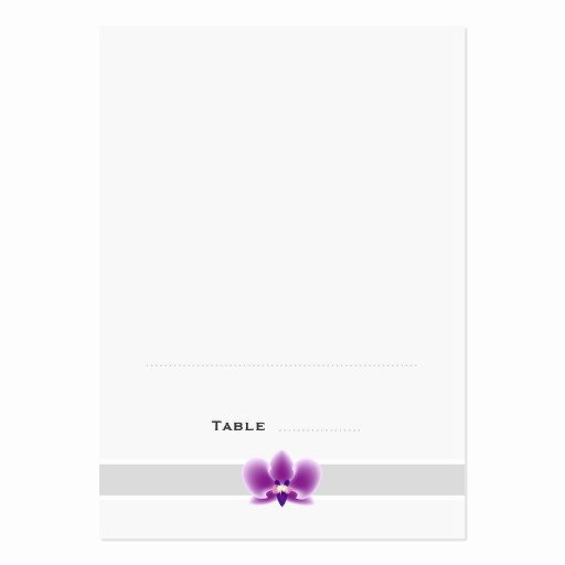 Folding Business Card Templates Inspirational Dark Purple orchid Folded Place Cards Business Card Template