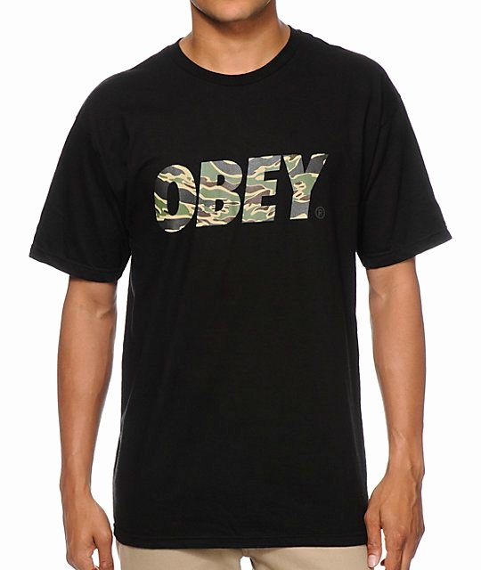 Font for T Shirt Lovely Obey Tiger Camo Font Black T Shirt In 2019 for Anthony